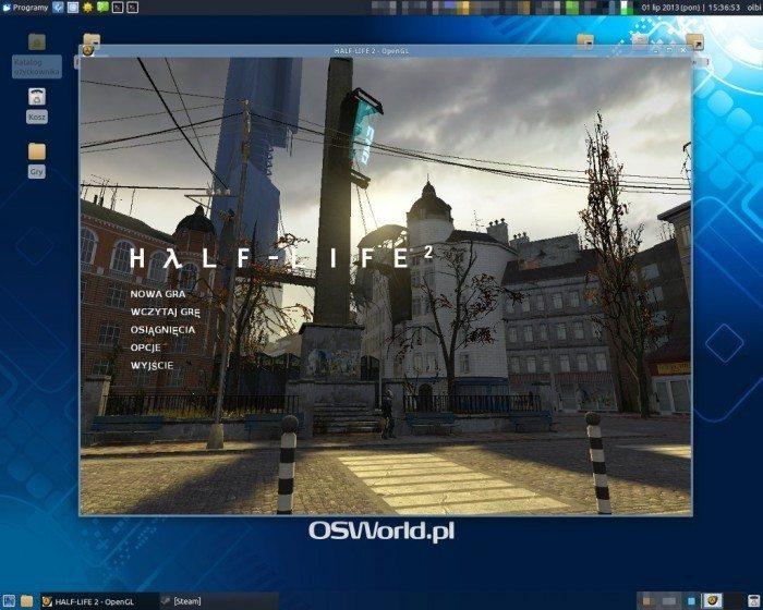 Half-Life 2 udostępniony na Linuksa - uruchomiona gra