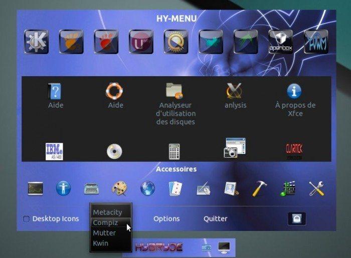 Hybryde Linux 1 - Hy menu