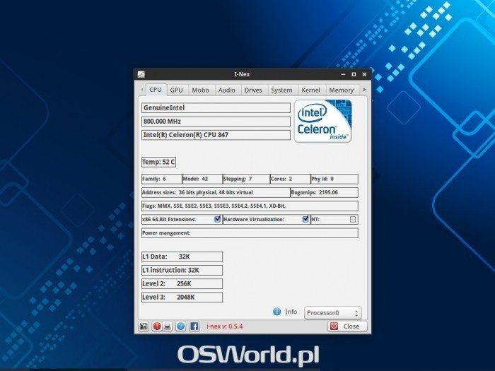 I-Nex 0.5.4 - procesor