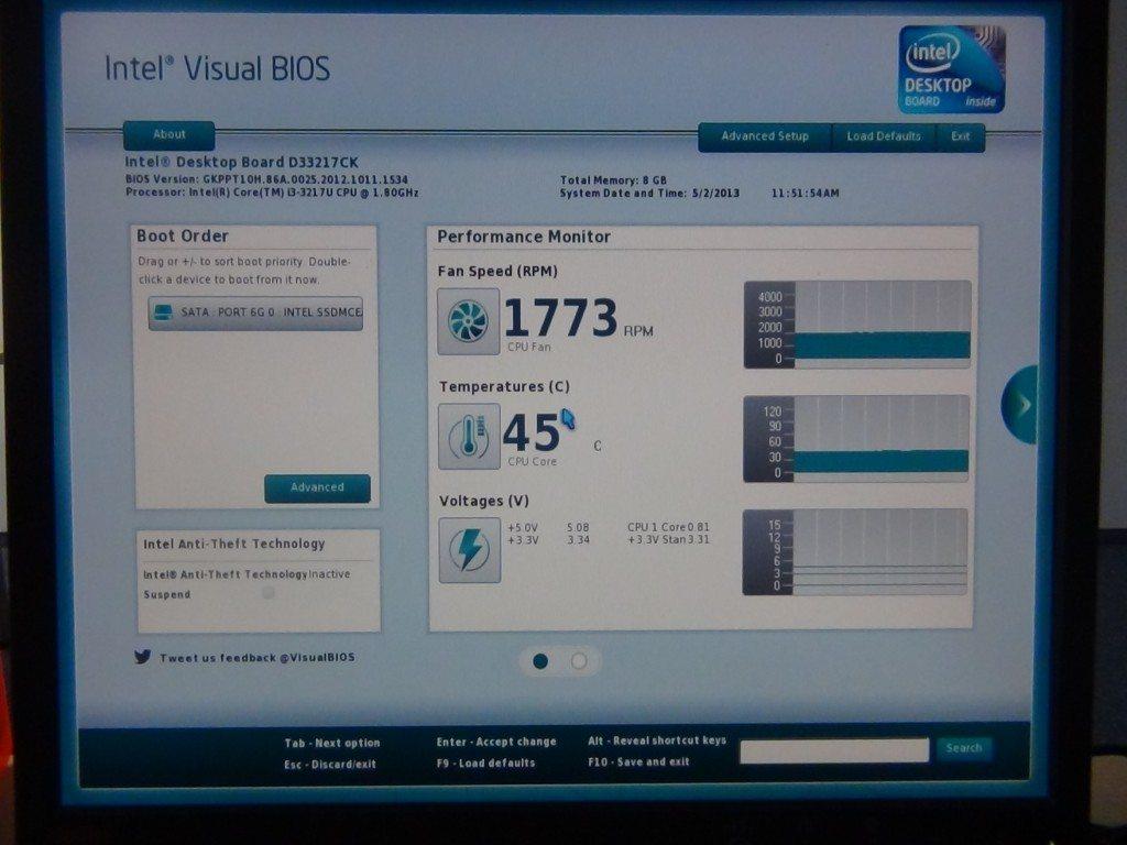 Intel NUC DC3217BY - UEFI - Home 1