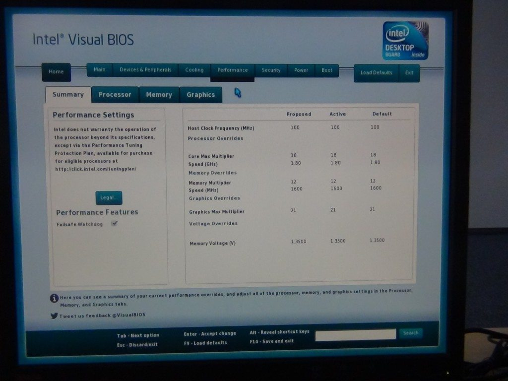 Intel NUC DC3217BY - UEFI - Performance - Summary