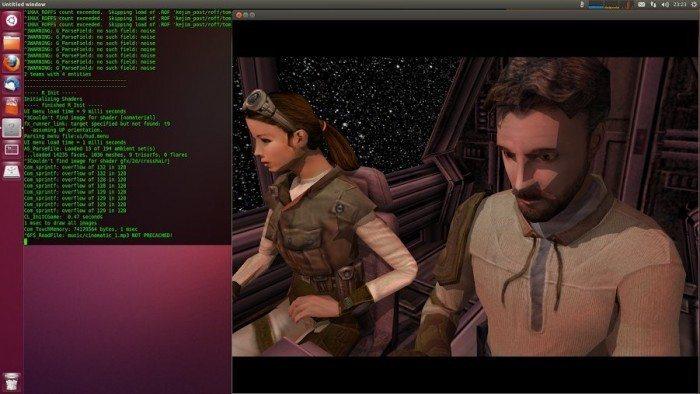 Jedi Knight II: Jedi Outcast - pierwsza grywalna wersja na Linuksa - intro