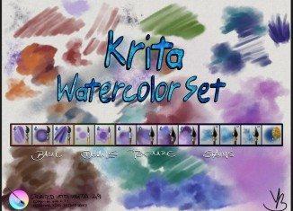 Krita Watercolor Set