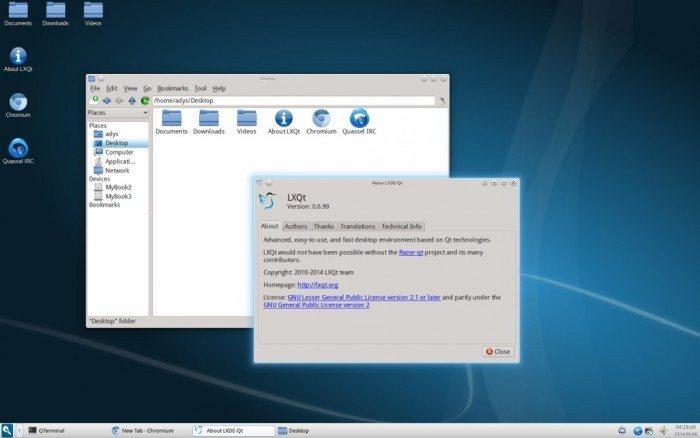 LXQt 0.7.0 - wersja