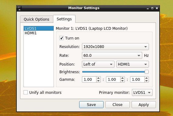 LXQt 0.8.0 - ustawienia monitora 2