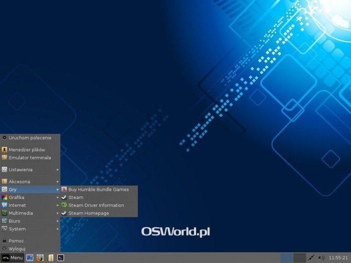 Linux Lite 1.0.6 - menu Gry