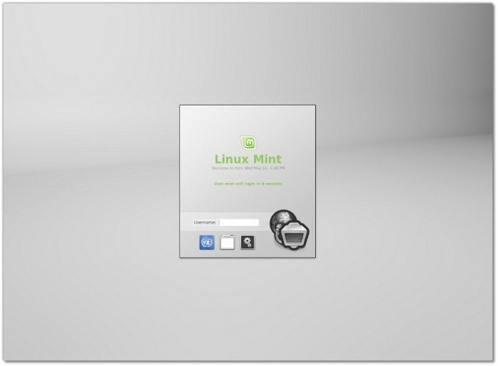 Linux Mint 13 - Mint Display Manager