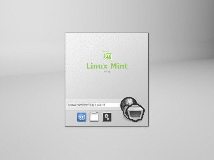 Linux Mint 13 Xfce - ekran logowania