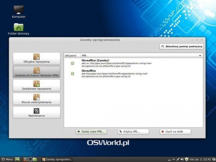 Linux Mint 15 Olivia - Zasoby oprogramowania - Osobiste Archiwum Pakietów