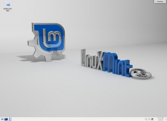 Linux Mint 16 KDE - pulpit