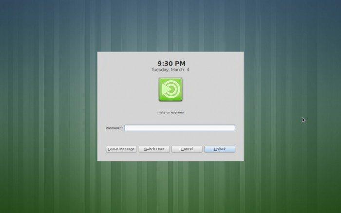 MATE 1.8 - wygaszacz ekranu