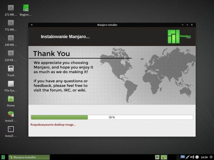 Manjaro 0.8.10 - Thus - instalacja 4