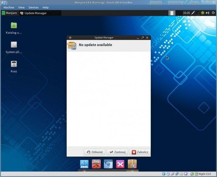 Manjaro 0.8.4 - Update Manager