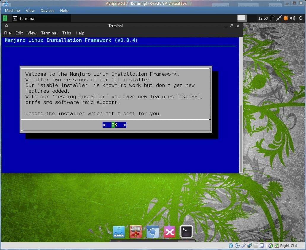 Manjaro 0.8.4 - ekran logowania