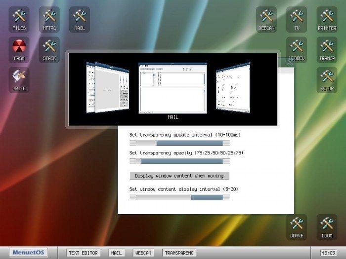 MenuetOS 1.0 - okna