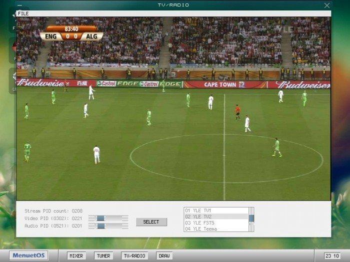 MenuetOS 1.0 - telewizja internetowa