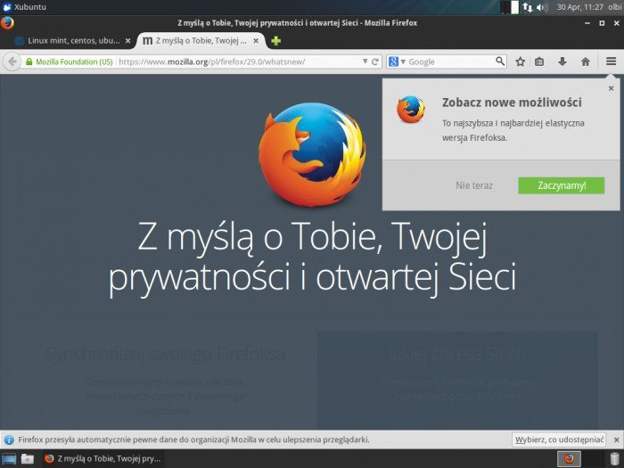 Mozilla Firefox 29.0 - przewodnik 1