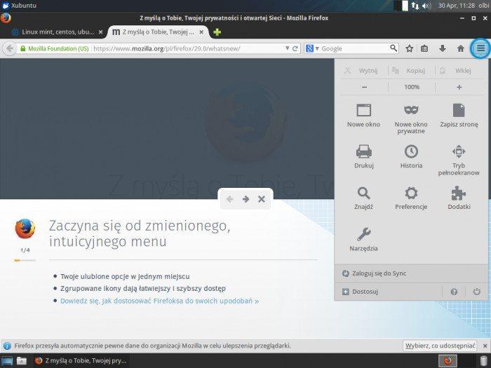 Mozilla Firefox 29.0 - przewodnik 2