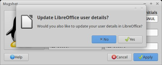 Mugshot - aktualizacja informacji w LibreOffice