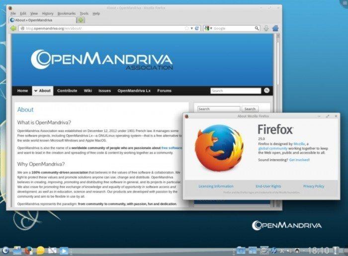 OpenMandriva Lx 2013.0 - Firefox
