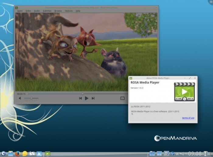 OpenMandriva Lx 2013.0 - ROSA Media Player
