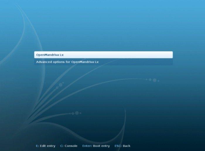 OpenMandriva Lx 2013.0 - ekran uruchamiania