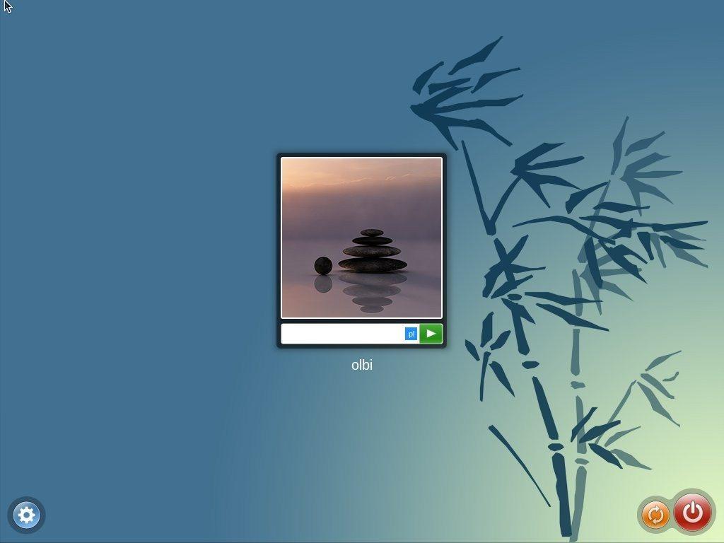 OpenMandriva Lx 2014.1 - ekran logowania