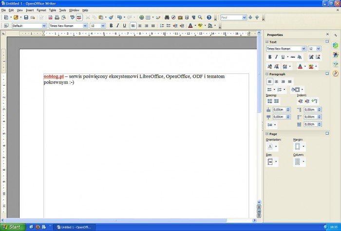 OpenOffice 4 - Writer