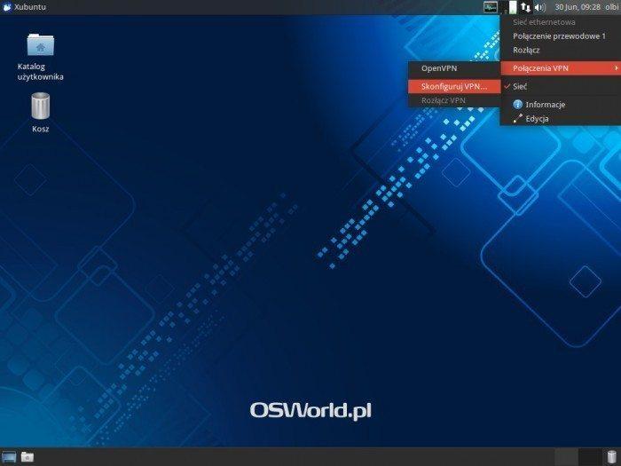 OpenVPN w NetworkManagerze - Skonfiguruj VPN
