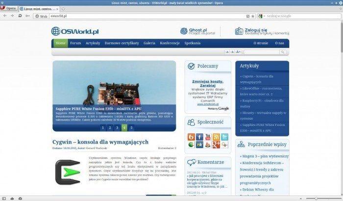 Opera 12 - strona osworld.pl