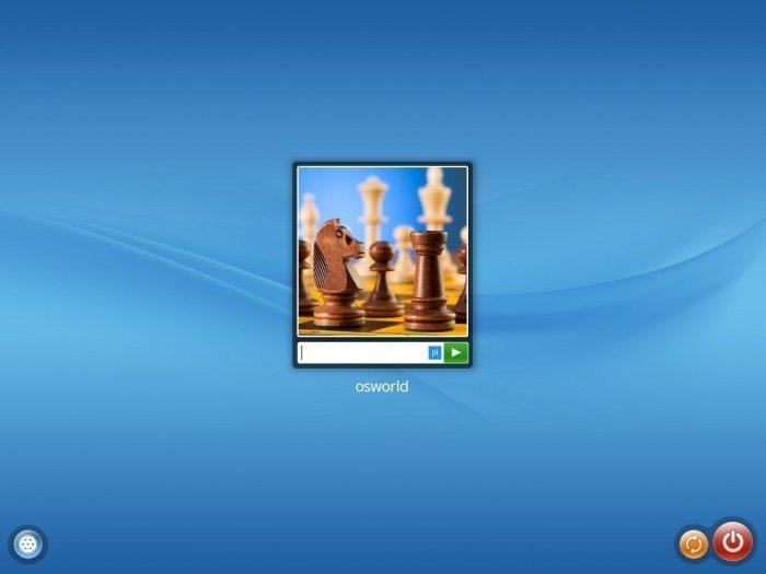 ROSA Desktop.Fresh 2012 - ekran logowania