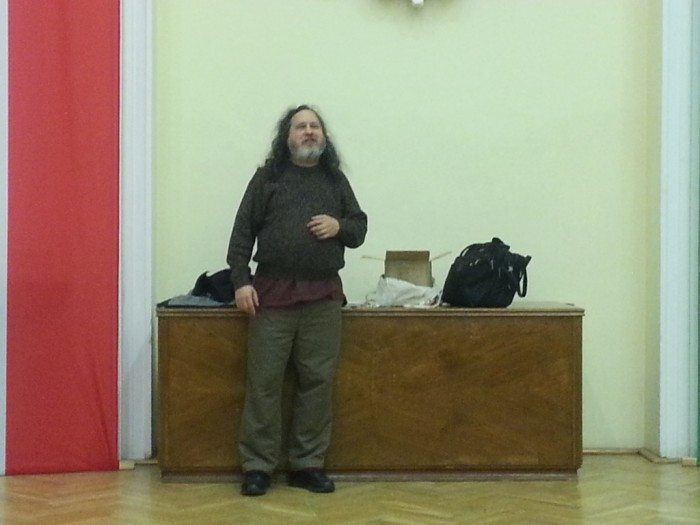 Richard Stallman w Warszawie - 13 marca 2013