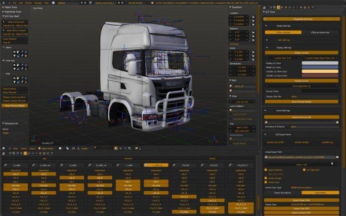 SCS Blender Tools - model ciężarówki