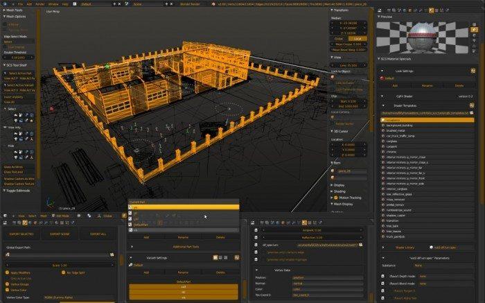 SCS Blender Tools - projekt garażu