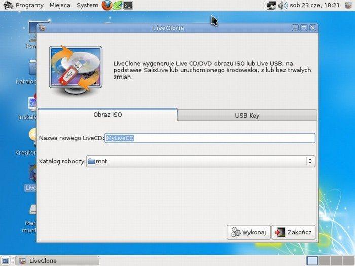 Salix OS 13.37 Live MATE - LiveClone