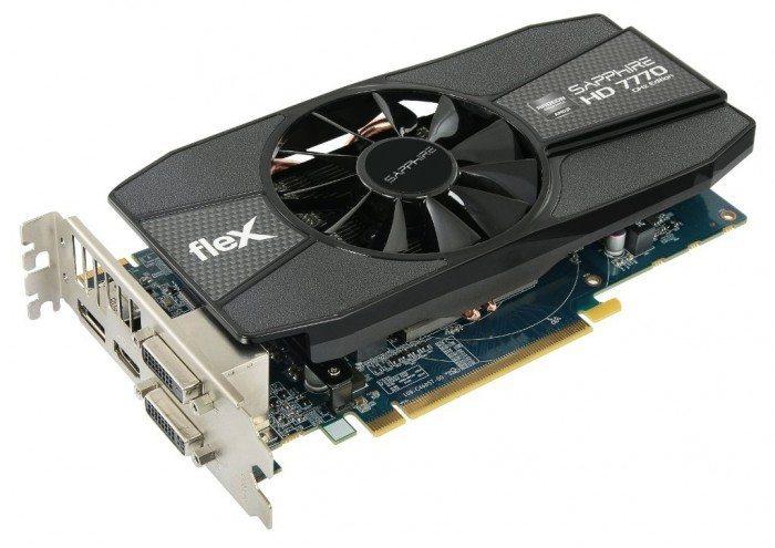 Sapphire Radeon HD 7770 FleX - front i śledź