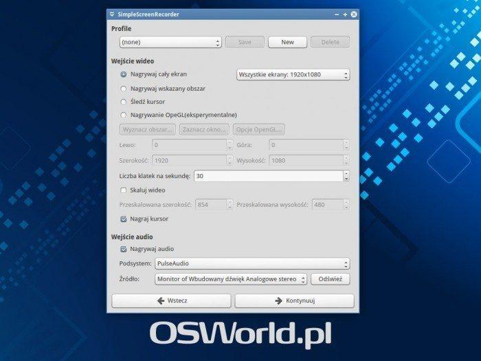 SimpleScreenRecorder 0.3.0 - ekran 2
