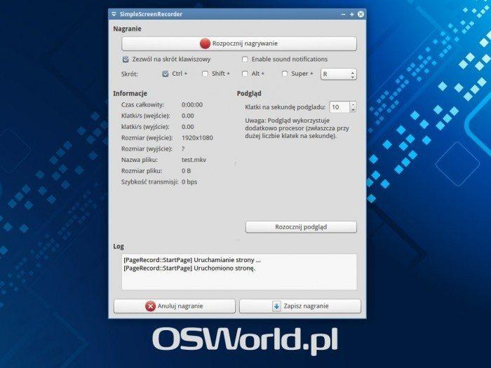 SimpleScreenRecorder 0.3.0 - ekran 4