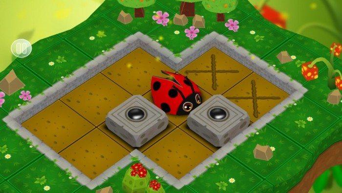 Sokoban Garden 3D - przesuwanie bloków