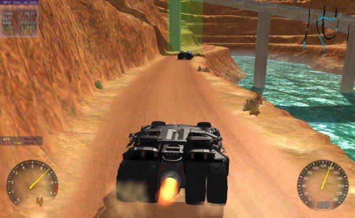 Stunt Rally 2.1 - auto Batmana tył