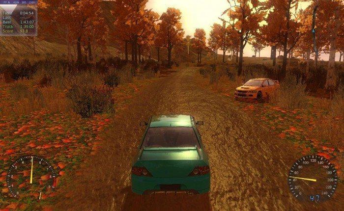 Stunt Rally 2.1 - odblask farby samochodu
