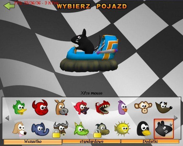 SuperTuxKart - Xfce mouse - lewy bok