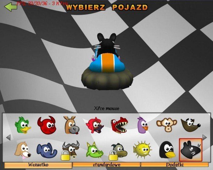 SuperTuxKart - Xfce mouse - przód
