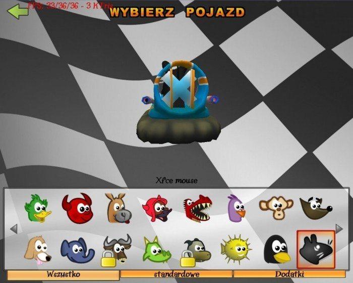 SuperTuxKart - Xfce mouse - tył