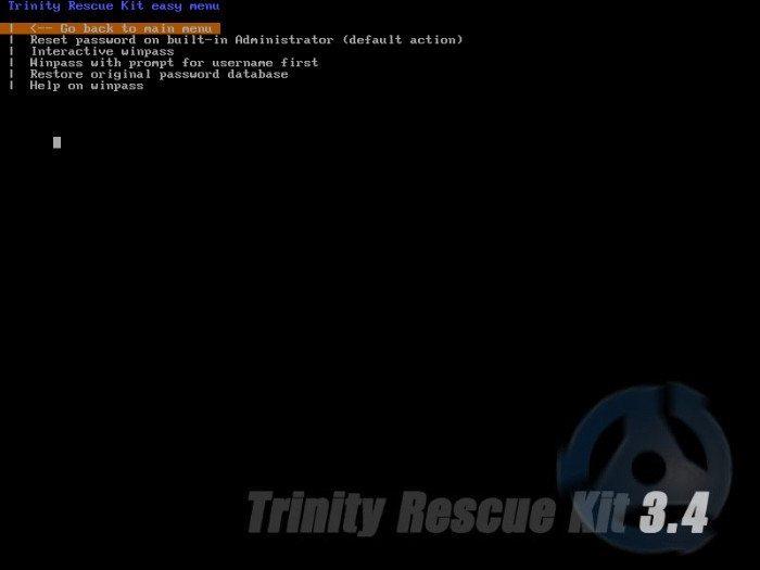 TRK - resetowania hasła Windows
