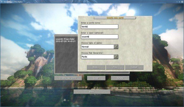 Terasology - Pre Alpha - tworzenie nowej gry