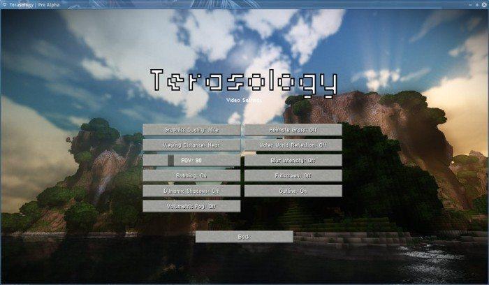 Terasology - Pre Alpha - ustawienia obrazu