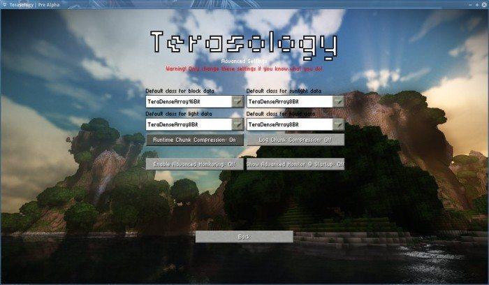 Terasology - Pre Alpha - zaawansowane opcje