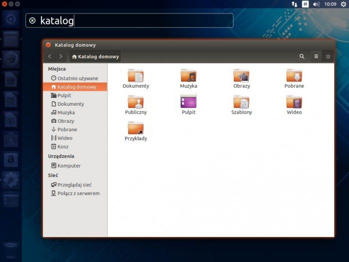 Ubuntu 14.04 LTS - Unity Spread z wyszukiwaniem okien