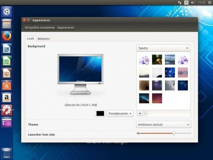 Ubuntu 14.04 LTS - zmiana wielkości ikon